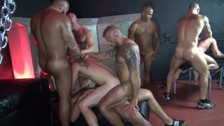 Jon Galt and Vic Rocco in Big Sex Club Orgy