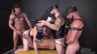 hugh hunter gets banged by four men