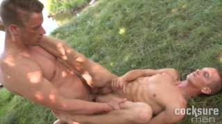 blond czech studs fucking on the grass