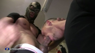 hung masked hunk feeds horny cocksucker