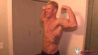 johnny v works out and jacks off