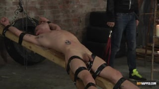 Michael Wyatt is Strapped Down, Flogged & Wanked Off