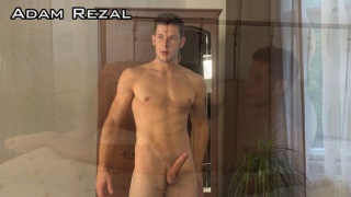 sexy guy Adam Rezal strokes his dick