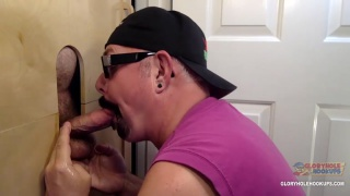 married man unloads in cocksucker's mouth at glory hole