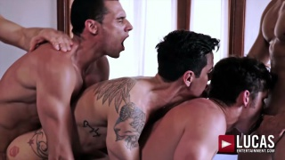 RAW DOUBLE-PENETRATION with DEVIN FRANCO, ANDREY VIC, JAVI VELARO, DRAE AXTELL & ANGEL CRUZ