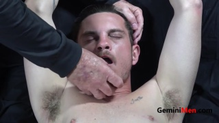straight guy blindfolded and gagged