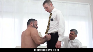 two daddies fuck a mormon boy