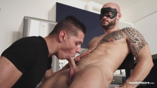 landlord sucks late-with-the-rent tenant's cock