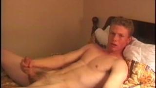 straight college freshman jacks his dick