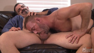 dominant daddy Jon Woof makes Bruce Bacch his bottom bitch