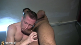 sucking a thick moroccan cock before bending over