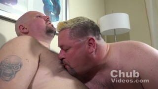 blond chub sucks his daddy's cock