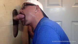 latin daddy gets sucked off at glory hole