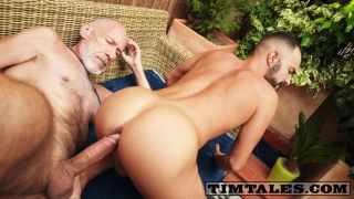 older man stuffs his giant cock into bottom's ass