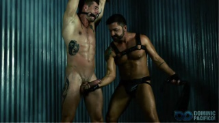 dominic pacifico strings up his slave boy for edging session