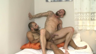 bearded european hunks fuck all over the place