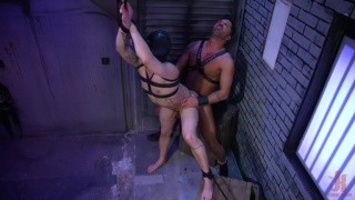 guy finds a naked dude ties up in a back alley