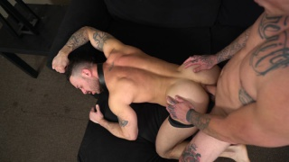 boss man marks his territory with spit and cum