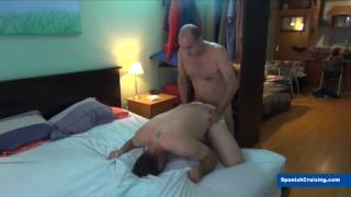 older bald man fucks a younger husky guy
