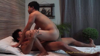 asian masseur fucks his client after a rubdown