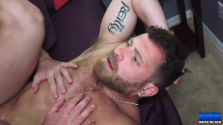 bearded daddy bottom gets his ass fucked and bred
