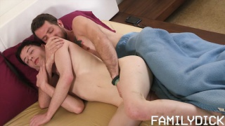 curious cousin walks in on stepfather and stepson fucking