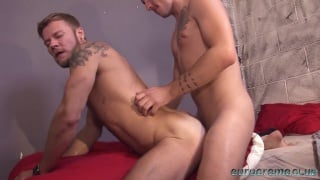 young lad fucks a bearded stud