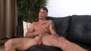 hunk with tanned body makes his first JO video