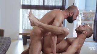 bald and bearded italian top fucks a spanish bottom's ass