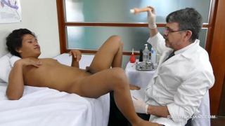 Asian boy loves Doctor's anal attention