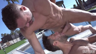 Manuel Skye and Mike Stallone fuck in the gymnast
