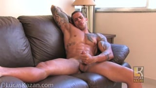 hung brazilian hunk strokes his 8 inches in audition