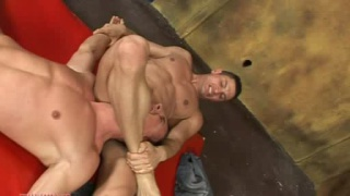 hunks stripped naked and wrestling