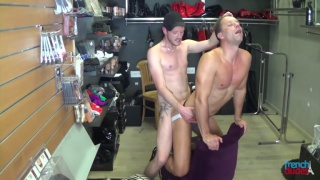 guys fuck in a sex shop