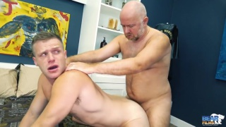bald daddy fucks insatiable bottom's ass