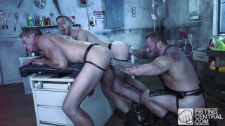 Hugh Hunter, Scotty Taylor and Pierce Paris at Fisting Central
