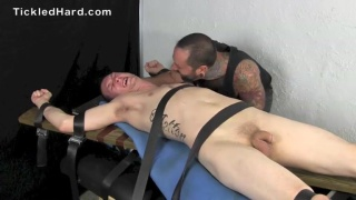 straight guy gets his size 10 feet tickled with fingers and feathers