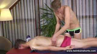 twinks wants a massage but gets more