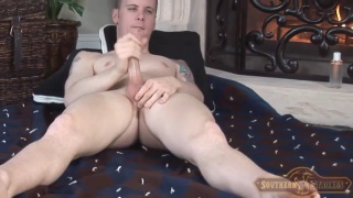 georgia redneck jerks his cock in first porno