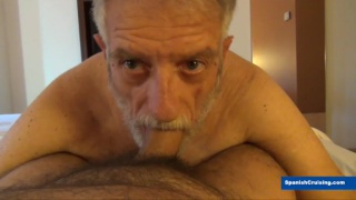 old man sucks a mature man's dick