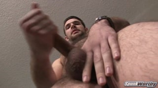 furry bearded straight dude jacks his dick