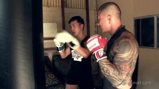 boxing lesson gets very dirty