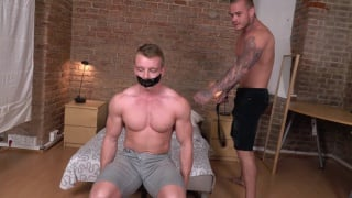 chiseled muscle boy gagged and ready to fuck