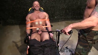 dirk caber strapped to a chair and zapped