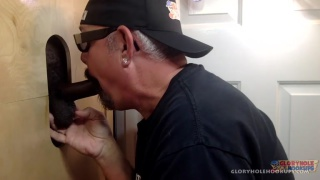 black man wants both my throat at the gloryhole