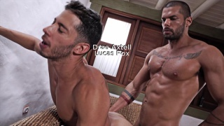 DRAE AXTELL RIDES LUCAS FOX?S RAW COCK