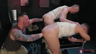 Hugh Hunter, Matt Wylde and Ashley Ryder at Club INferno