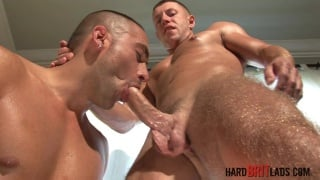fit muscle lads get hard and suck dick