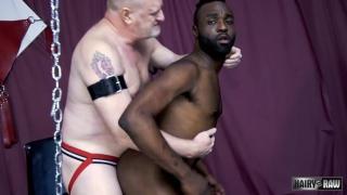 black guy loves servicing older white daddies