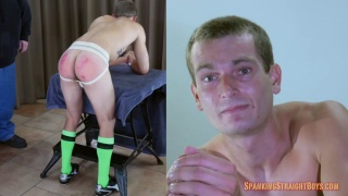 spanking a guy in soccer uniform and classic jockstrap